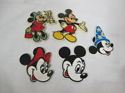 Vintage Disney Rubber Refrigerator Magnets 5 Mickey Mouse Fantasia Minnie