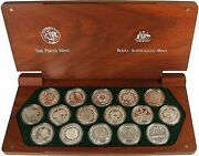 2000 Sydney Olympic Games Coin Set 16 X Silver Proof 5 Coins