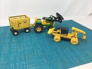 Vintage Tonka And Matchbox Tractor/trailer/cat Machine Used Vg