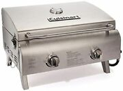 Hotcuisinart Chef's Style Propane Tabletop Grill, Two-burner, Stainless Steel