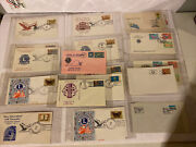 Vintage 1977 Lions Club International Cover Lot 2 States And Countries