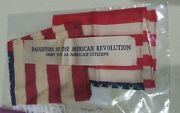 2 Antique Daughters Of The American Revolution Us Flags Very Rare