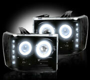 Recon Smoked Projector Headlights Gmc Sierra And Denali 07-13 Ccfl Technology