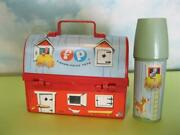 1962 Vintage Fisher Price Red Barn Play Lunch Box Thermos/lid-silo Toy 549 Usa