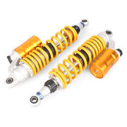 360mm 14' Motorcycle Rear Air Shock Absorber Suspension Sping Bag Damper Yellow