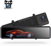 Toguard 4k Mirror Dash Cam Backup Camera For Cars Voice Control Gps Tracking