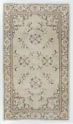 4x7 Ft Art Deco Chinese Design Rug In Beige Brown Taupe Colors Circa 1960