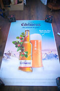 Edelweiss Style C 4x6 Ft Bus Shelter Original Alcohol Beer Advertising Poster
