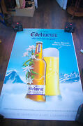 Edelweiss Style A 4x6 Ft Bus Shelter Original Alcohol Beer Advertising Poster