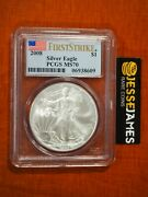 2008 1 American Silver Eagle Pcgs Ms70 Flag First Strike Label