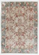 8.8x12 Ft One-of-a-kind Vintage Hand-knotted Turkish Rug With Rose Garden Design