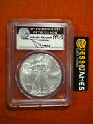 2011 W Silver Eagle Pcgs Ms70 John Mercanti Signed Struck At West Point Label
