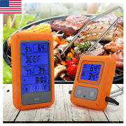 Dual 2 Probes Digital Wireless Lcd Meat Cooking Kitchen Alarm Thermometer Andtimer