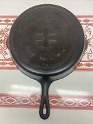 Vintage Griswold 9 Cast Iron Skillet With Large Block Logo And Heat Ring - 710 L