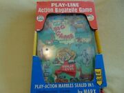 Vintage Marx Toy Play Line Action Bagatelle Game Pinball Style In Packaging