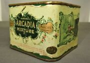 Antique Arcadia Mixture Canister Tin The Surbrug Co My Lady Nicotine Jm Barrie