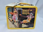 Ronald Mcdonald Sheriff Cactus Canyon Metal Lunch Box Thermos 1983 New With Tag