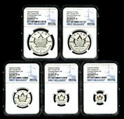 2021 Canada Silver Pulsating Maple Leaf 5-coin Ngc Pf70 Rev Proof Mintage 3k Fr