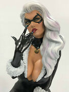 Custom Built And Painted 1/4 Scale Black Cat Statue From Spiderman 3d Printed