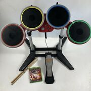 As Is Untested Rock Band 4 Xbox One Red Target Exclusive Drums Pedal Game Sticks