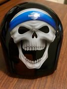 Oem Harley Davidson--super Rare --skull With Headband- Painted Horn Cover