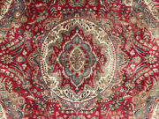 7x10 Vintage Wool Rug Hand-knotted Antique Handmade Handwoven Red Blue 7x9 6x9