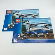 Lego Manual Instruction 2 Book Lot City Set 4439 1-2 Manuals Only