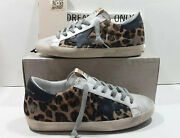 Golden Goose Super-star Sneakers Leopard Horsy Ice Suede Leather Sz 37 Us 7 560