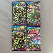 Lot Of 4 Pokemon Card Ancient Origins Booster Packs New Factory Sealed