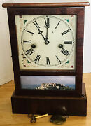 Antique Cottage Mantle Clock Waterbury Clock Co. Recently Serviced Runs Great