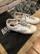 Authentic Golden Goose Superstar White With Fur Tounge And Star Size 38 Italy