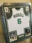 Bill Russell Authentic Autograph Framed Jersey Coa The Goat 11 Titles