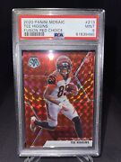 Mosaic 2020 Bengals Tee Higgins Red Choice Fusion 53/80 Rookie Card Mint Psa 9