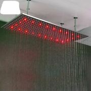 Bathroom High Pressure Rain Shower Head 20and039and039andtimes40and039and039 Mm Temperature Control Led Spa
