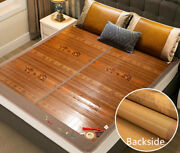 Summer Mat For Bed Cool Feeling Foldable Bamboo Mat Double Faces Sleeping Mats