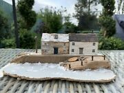 Kirsty Elson Driftwood Artist Row Of Cottages Houses Hand-crafted Decorative