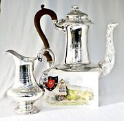 1830 Silver Coffee Pot And Jug Tribute Trophy. St Johns College Oxford University.