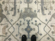 9x12 Neutral Hand-knotted Rug Wool Muted Handmade Oriental Handwoven Modern Rugs