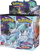 18 Chilling Reign Booster Pack Lot - Sealed From Box Pokemon Cards In Hand