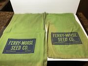 Lot Of 2 Vintage Ferry Morse Seed Co San Francisco Detroit Advertising Bags
