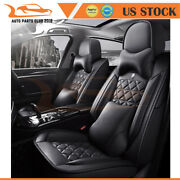 Car Seat Covers For Lexus Honda Hyundai Suv Truck Auto Deluxe Pu Leather Pillow