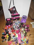 Monster High Huge Doll Clothes And Accessories 2 Cars Lot