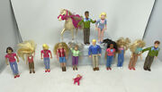 Vintage And Mixed Fisher Price And Mattel Loving Family Figures Lot Of 14 Dollhouse