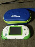 Leapster Gs Explorer Handheld System. W/case And 5 Games, No Power Cord. Works