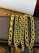 22k 916 Fine Yellow Real Gold Mens Womenandrsquos Comfort Necklace 22andrdquo Long 6.5mm 15.7g