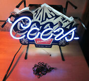 Vintage Coors Lighted 3-d Banquet Beer Sign Hang Wall Mount Table/shelf
