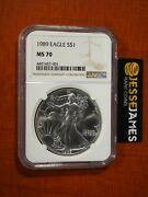 1989 1 American Silver Eagle Ngc Ms70 Classic Brown Label