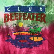 Vintage Club Beefeater T Shirt Sunset Tie Dye Sunset Green Pink L Made In Usa