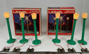2 Sets Of Lionel Street Lamps 6-2170 In Original Boxes Tested No Inserts Lockons