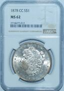 1878 Cc Ngc Ms62 Vam-11 Top-100 Lines In Wing Carson City Morgan Silver Dollar